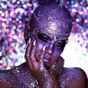 Halloween Look   Jewel Encrusted Extraterrestrial -- NICOLE GUERRIERO