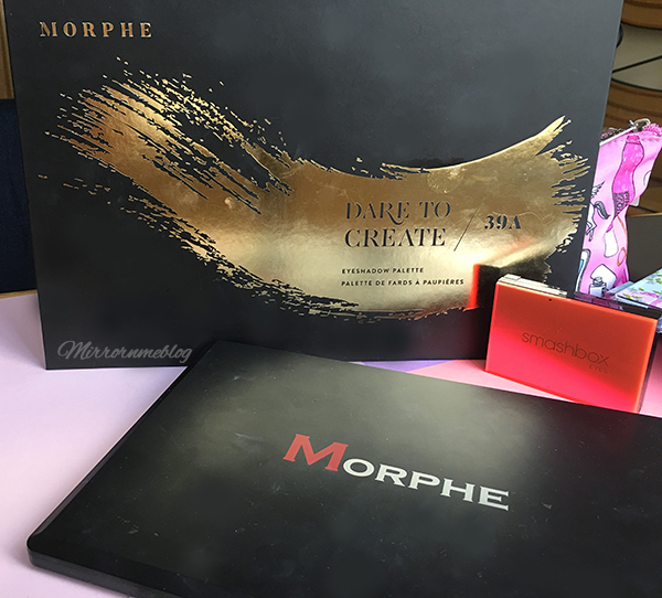 Morphe 39A Dare to Create palette, Morphe 35O palette and Smashbox mini Eye palette