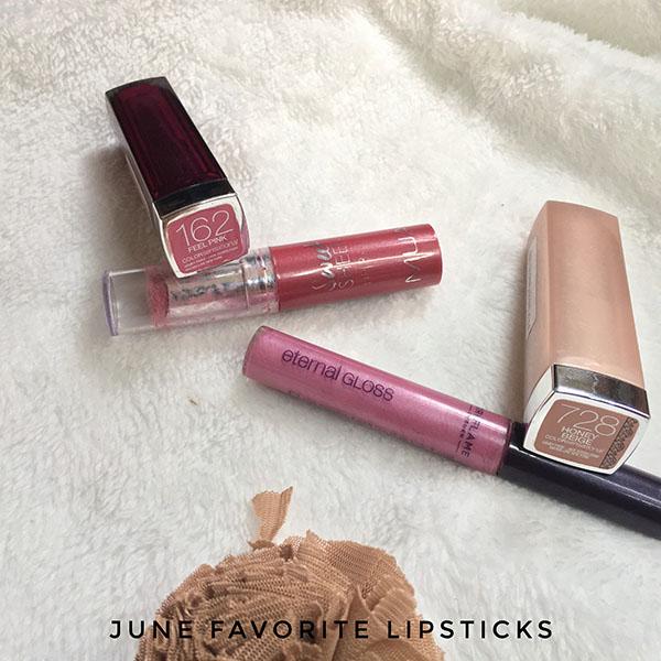 June Favorite Lipsticks