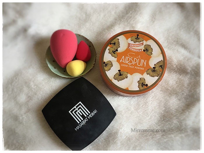 Holy Grail Setting Powder coty airspun and Masarrat Misbah