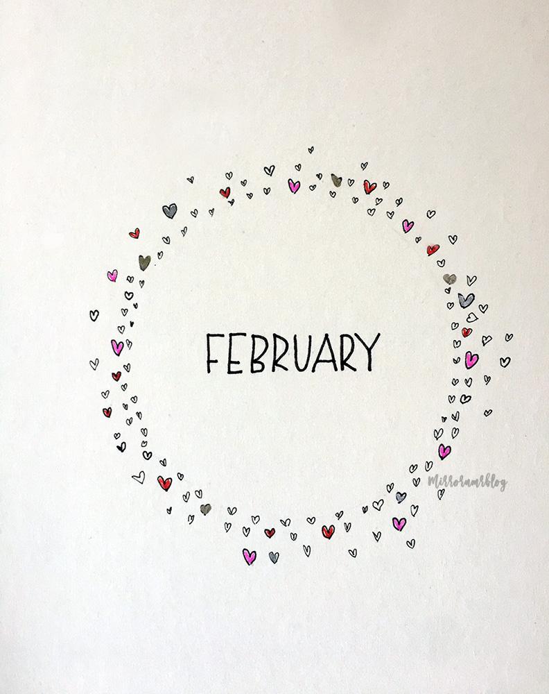 February Bullet Journal 2020 ideas