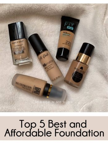 top 5 Best and affordable foundation